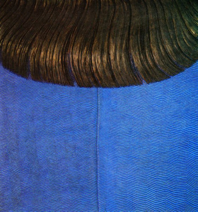 domenico-Gnoli-rosso-capelli-on-blue-dress-1969